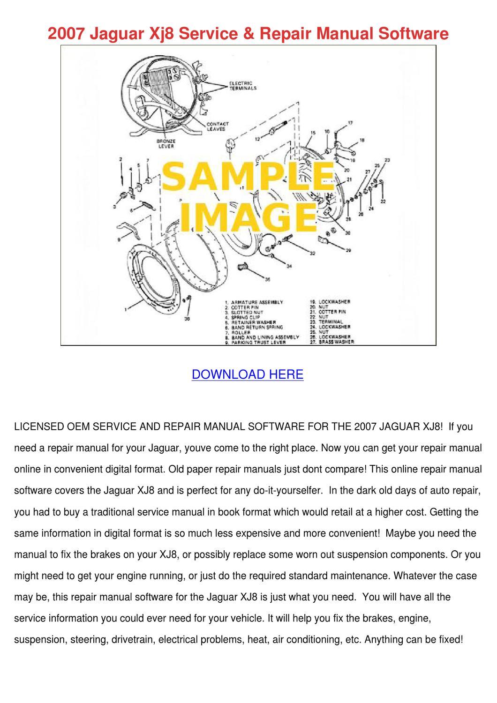 jaguar xj8 owners manual free download