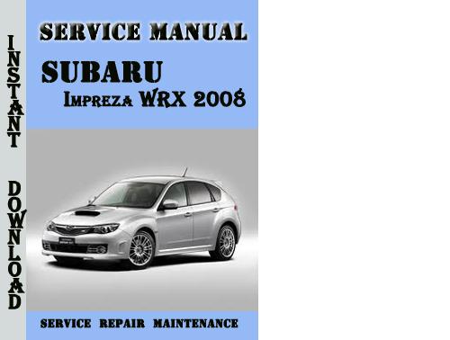 2008 subaru impreza owners manual pdf
