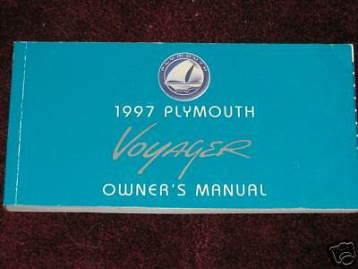 97 plymouth voyager owners manual