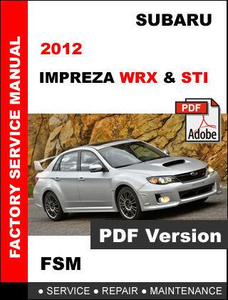 2012 subaru impreza service manual