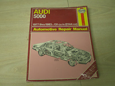 1984 audi 5000s owners manual