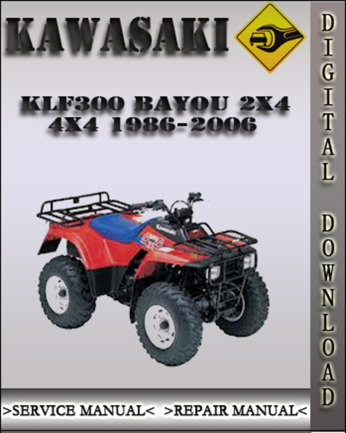 1995 kawasaki bayou 300 4x4 owners manual