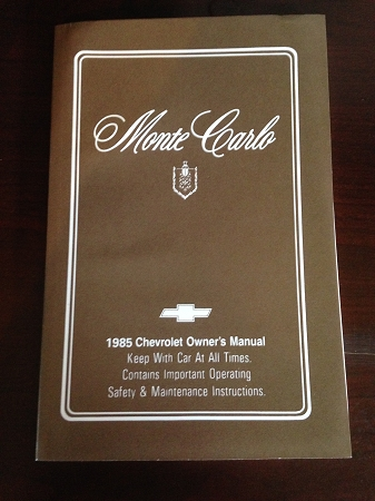 2000 monte carlo owners manual