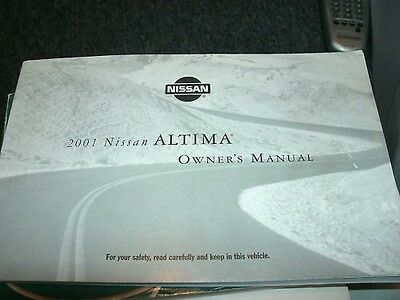 2001 nissan altima owners manual