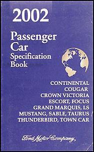 2002 ford thunderbird service manual