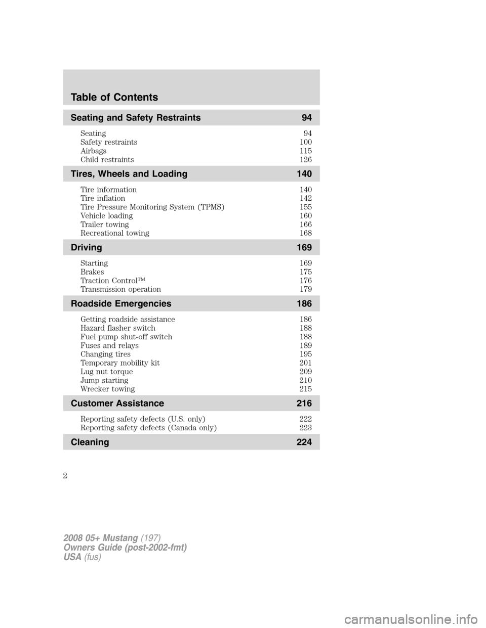2008 mustang owners manual pdf