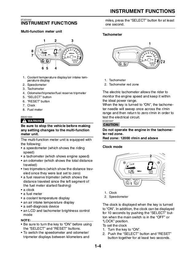 2009 yamaha fz1 service manual