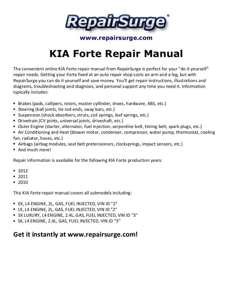 2010 kia forte service manual