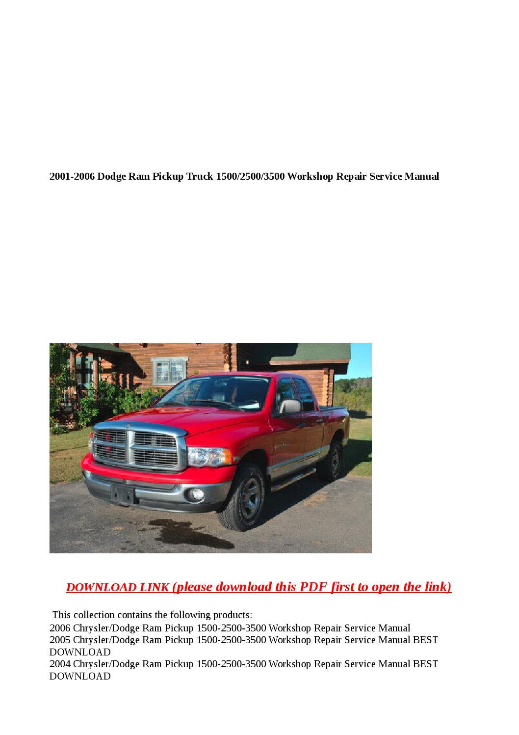 2014 ram 2500 service manual