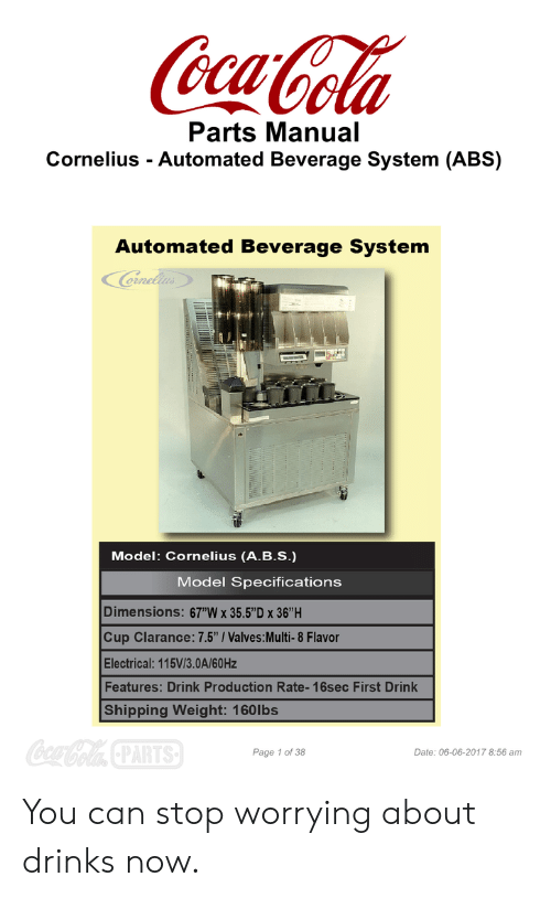cornelius automated beverage system service manual