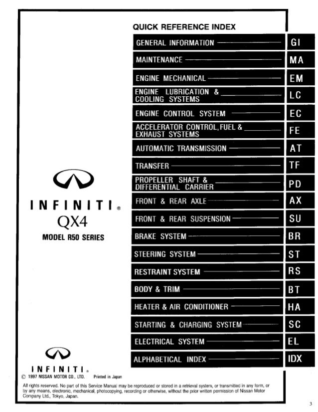 1999 infiniti qx4 owners manual