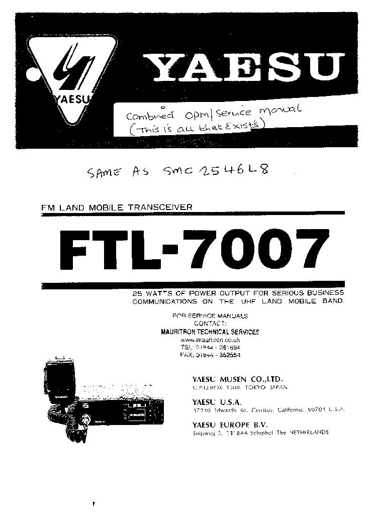 yaesu ftm 10r service manual