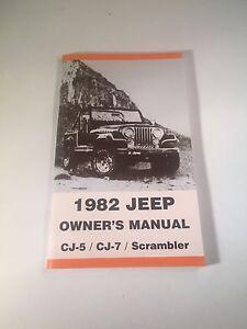 1986 jeep cj7 owners manual