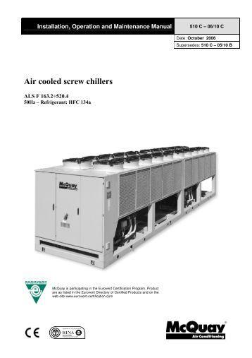 Mcquay Ags Chiller Service Manual