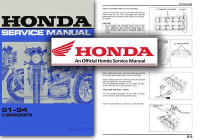 1991 honda cbr 600 f2 service manual