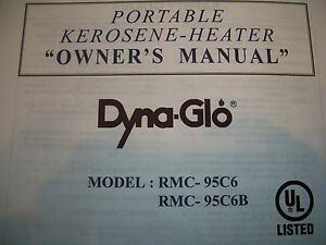 dyna glo rmc 95 c4 owners manual
