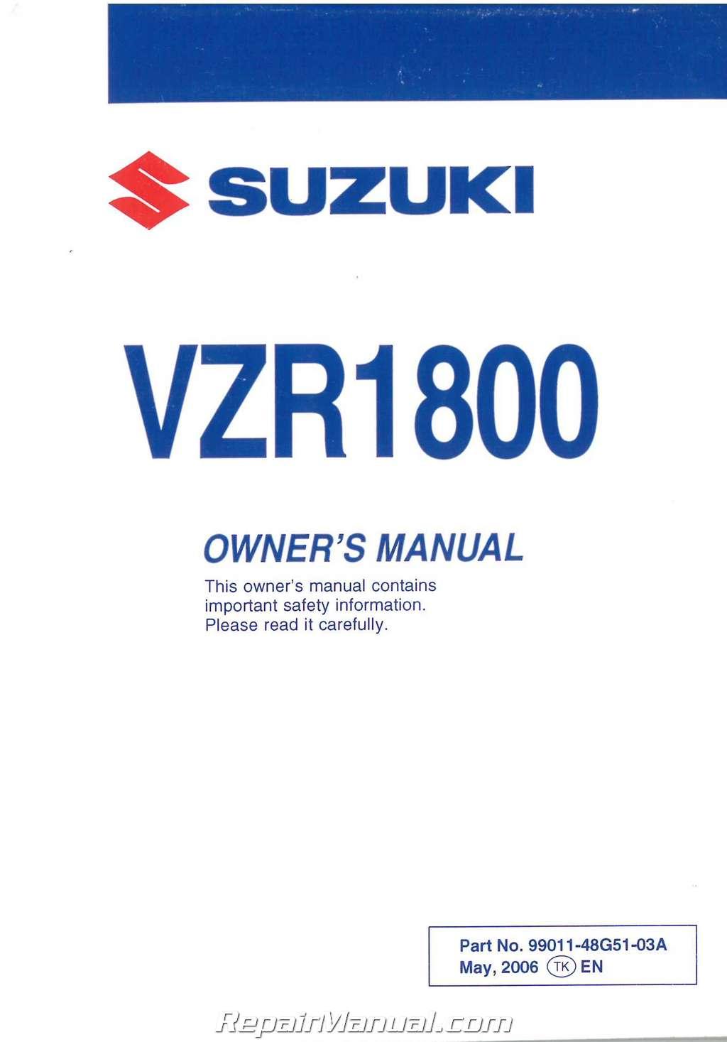 2006 suzuki boulevard m50 owners manual