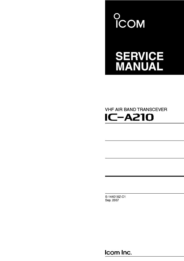 icom ic a210 service manual