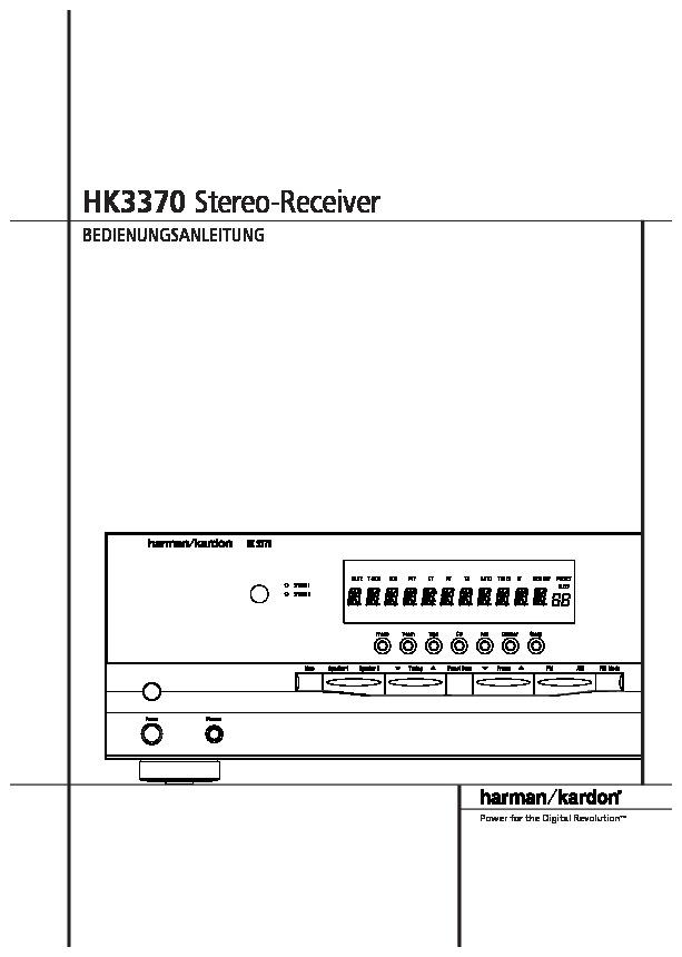 harman kardon hk 3370 user manual
