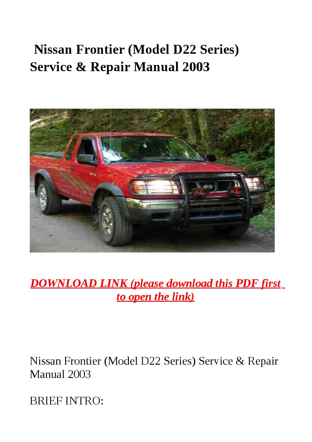 2015 nissan frontier service manual