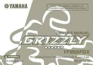 2007 yamaha grizzly 660 owners manual