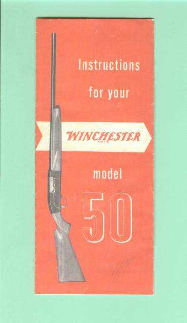 winchester model 50 owners manual