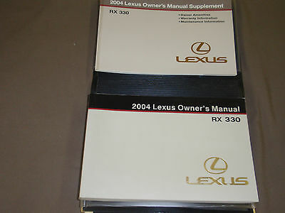 2004 lexus rx330 owners manual