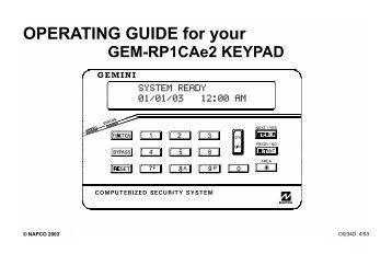 napco gem p1632 user manual