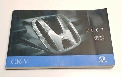 2007 honda cr v owners manual