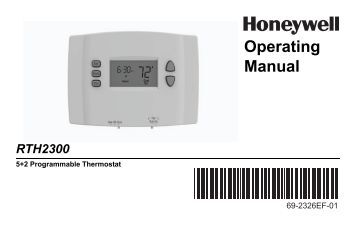 honeywell pro 6000 thermostat user manual