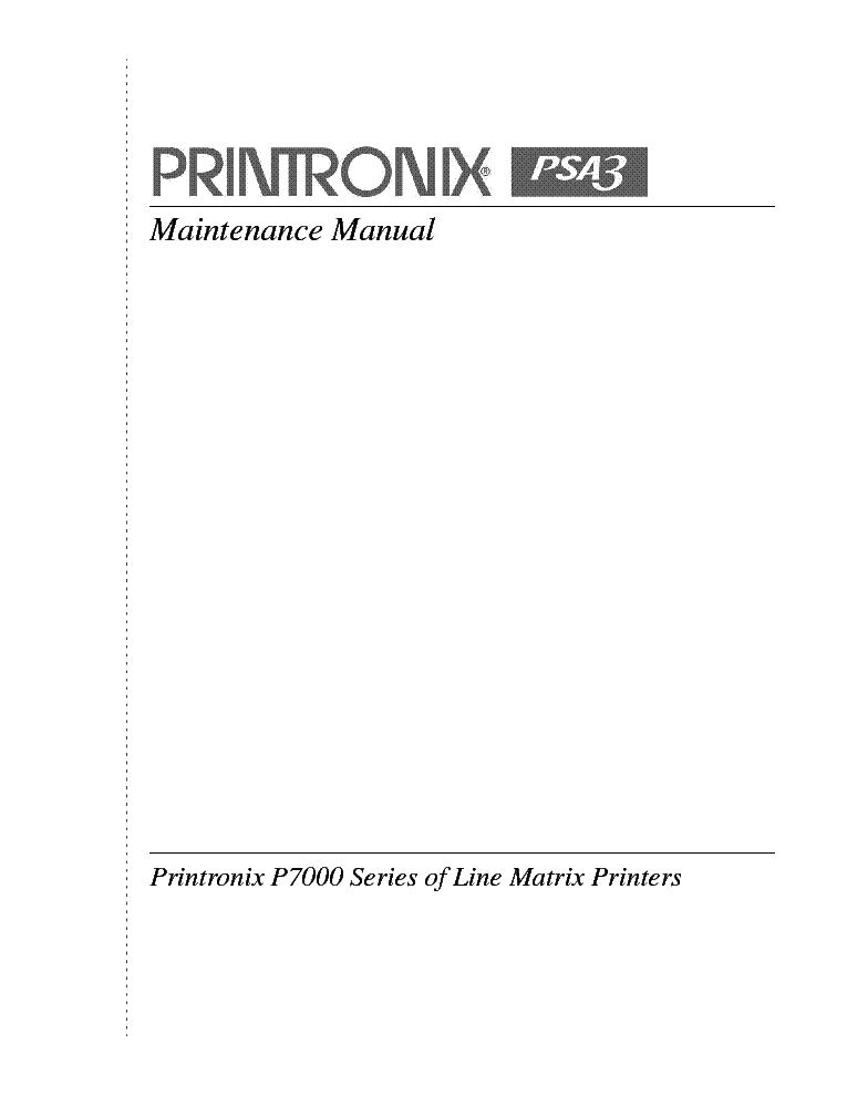 printronix p7000 service manual pdf