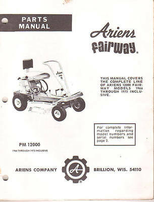 ariens riding mower service manual