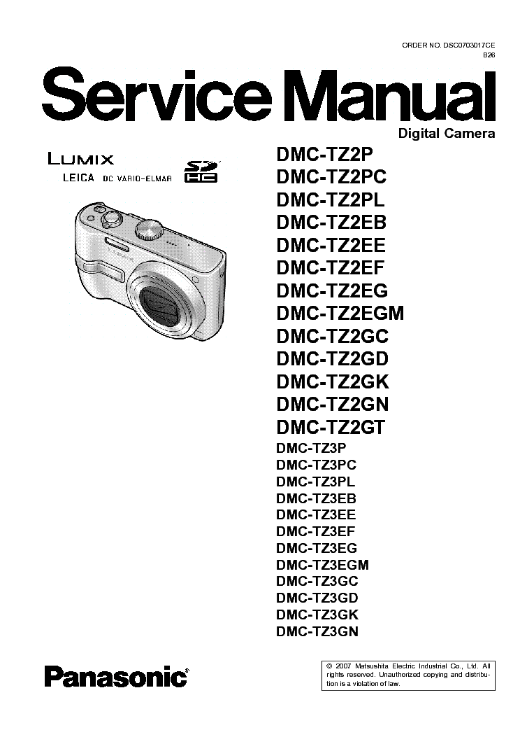 panasonic dmc tz3 user manual