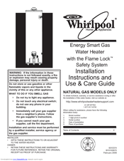 whirlpool energy smart water heater owners manual