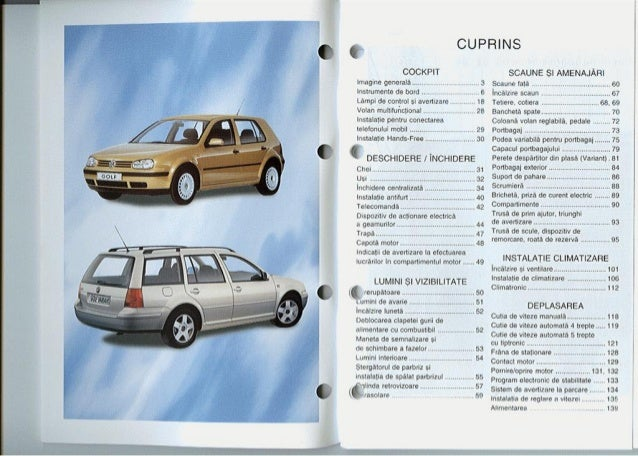 golf mk4 owners manual pdf