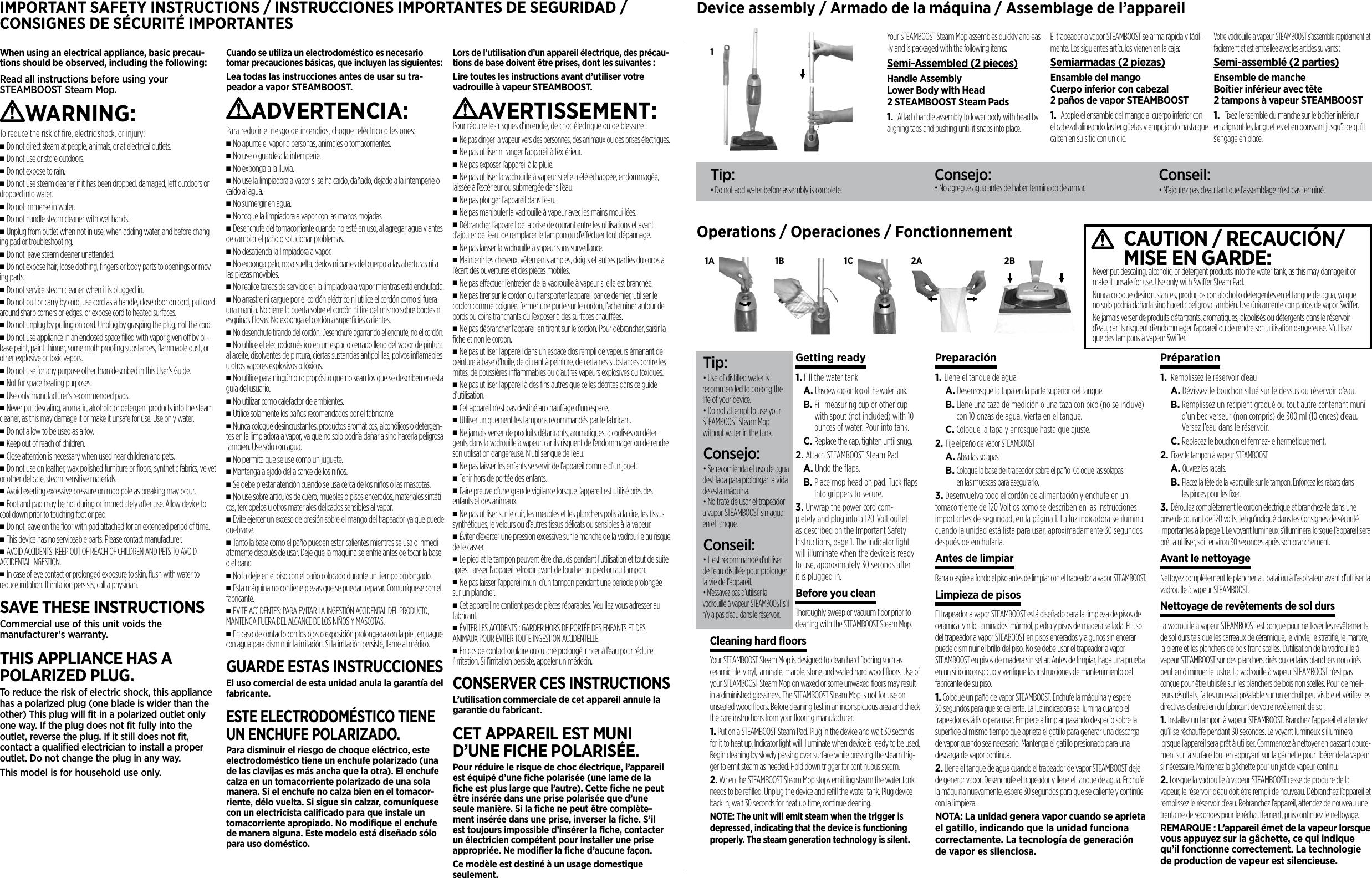 monster steam booster user manual