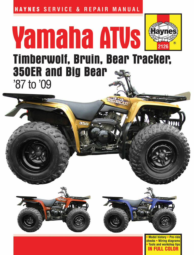 1988 yamaha big bear 350 owners manual