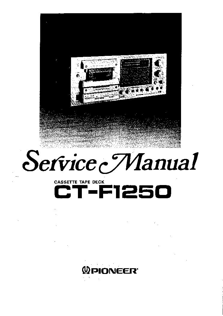 pioneer ct f1250 service manual