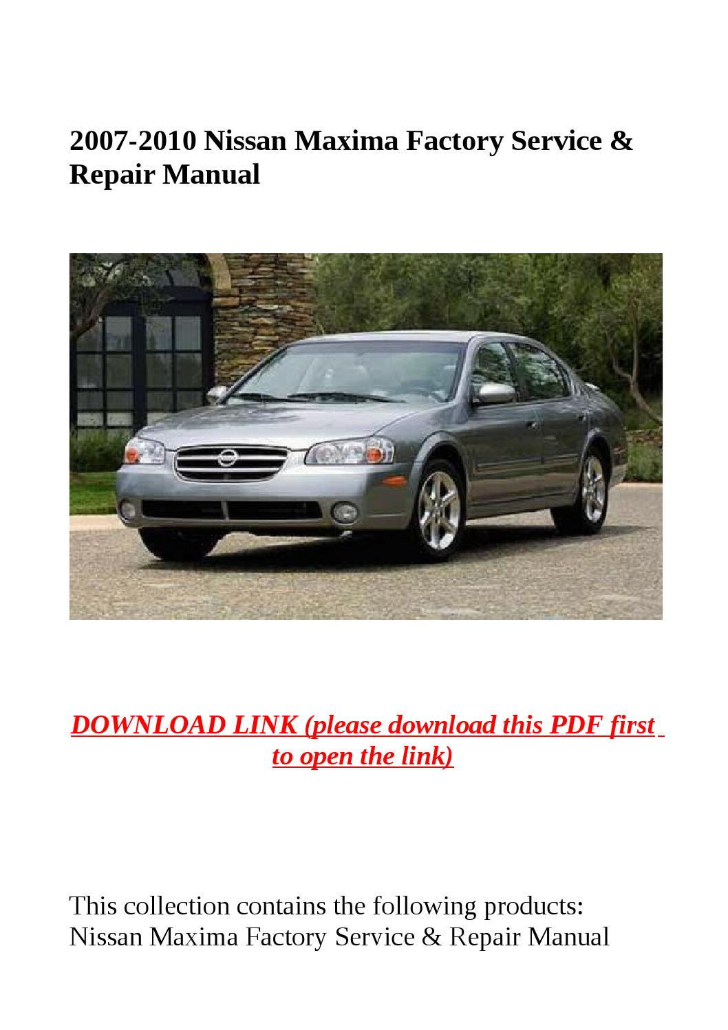 2010 nissan maxima user manual