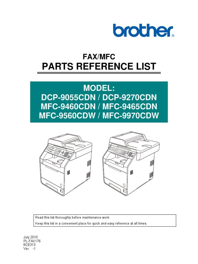 brother mfc 9460cdn service manual