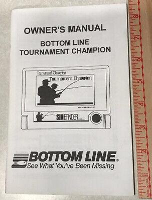 bottom line fishin buddy 1200 owners manual