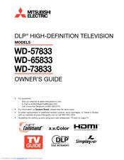 mitsubishi wd 65731 owners manual