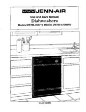 jenn air dishwasher service manual