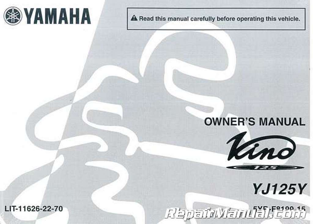 2009 yamaha vino 125 owners manual