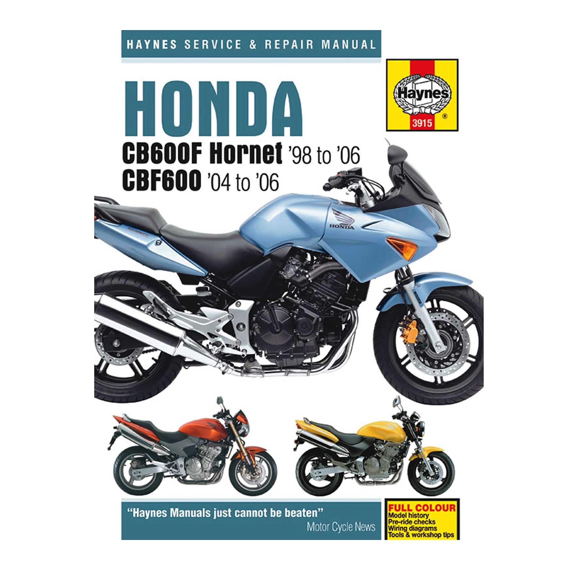 honda hornet 600 service manual pdf