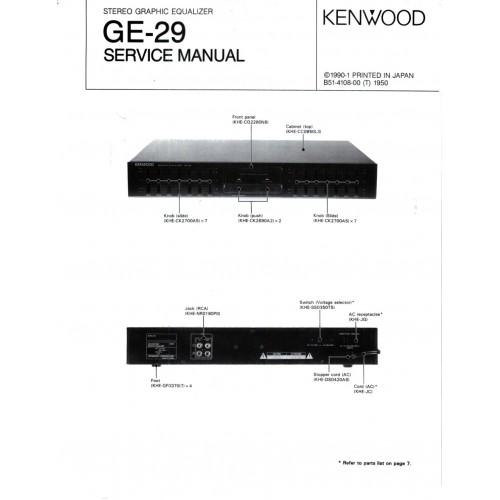 kenwood ge 850 user manual