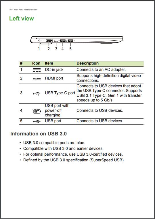 acer swift 1 user manual