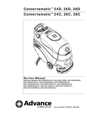 advance convertamatic 26d service manual