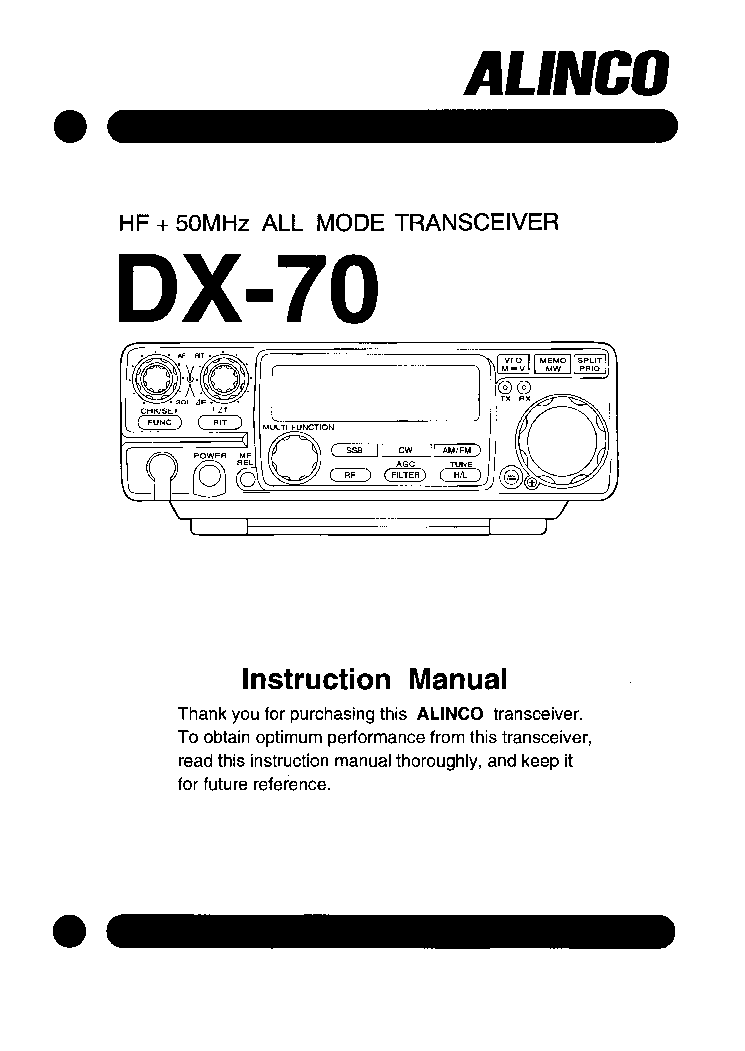 alinco dx 70 service manual