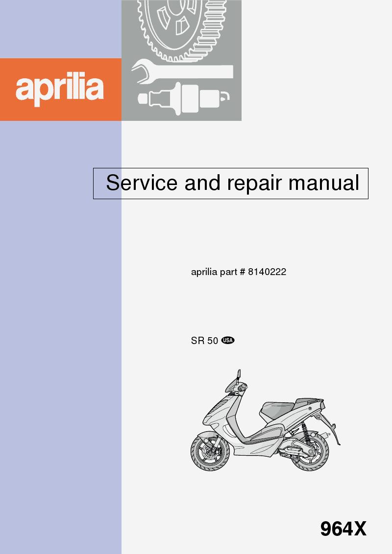 aprilia sr 50 ditech service manual